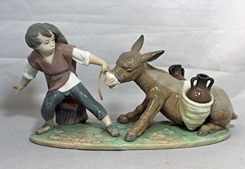 Lladro Figurine, 5178 Stubborn Donkey, Boy pulling donkey. #Lladro #Statue #Sculpture #Decor #Gift #gosstudio .★ We recommend Gift Shop: http://www.zazzle.com/vintagestylestudio ★