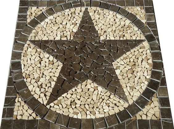 30 sq texas star mosaic marble medallion tile floor wall backsplash