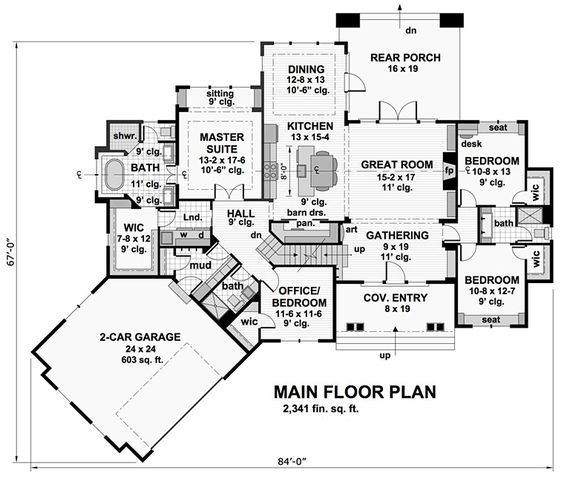 Bungalow Cottage Craftsman French Country Tudor House Plan    Bungalow Cottage Craftsman French Country Tudor House Plan Level One
