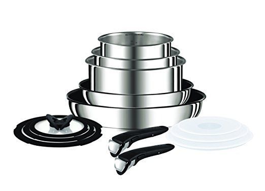 Tefal Ingenio Stainless Steel 13 Pieces Cookware Set L9409042