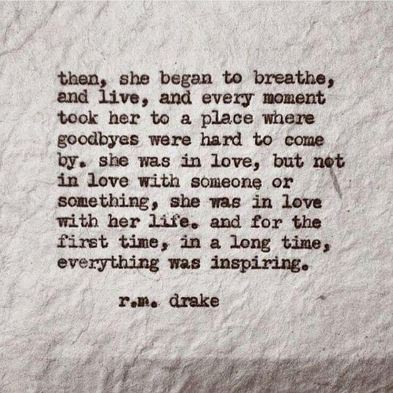 she began
