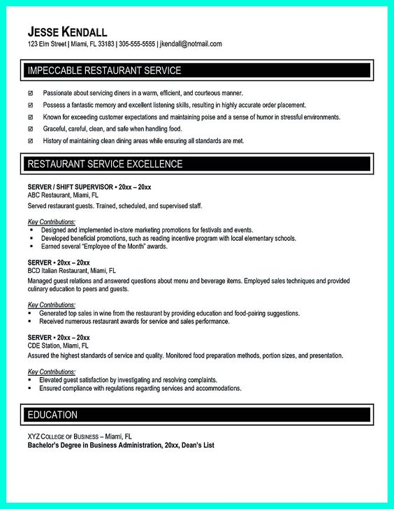 Your Catering Manager Resume Must Be Impressive. To Make