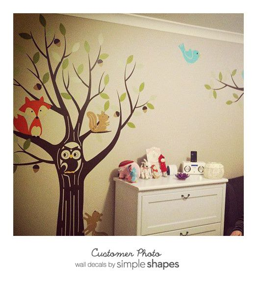 Tree Decal with Owl