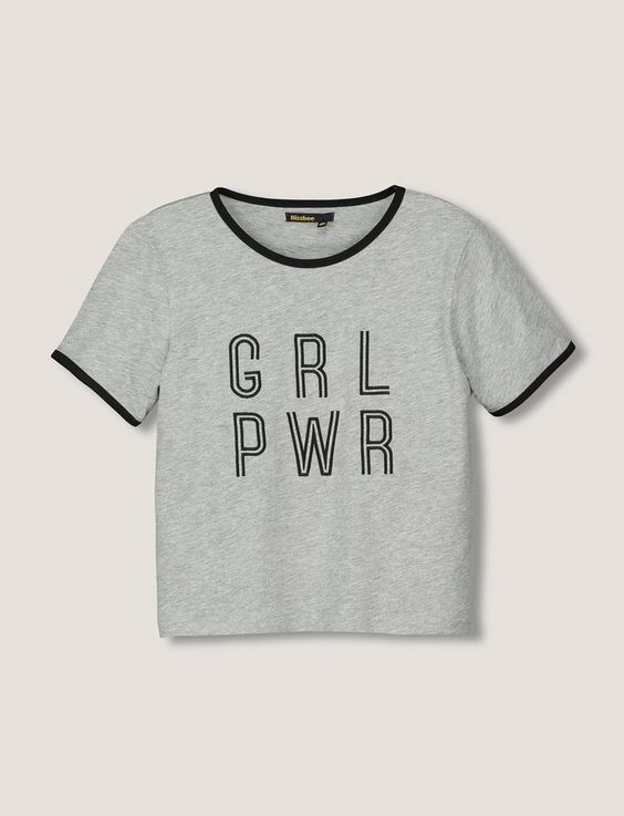 T-shirt manches courtes à message Girl Power
