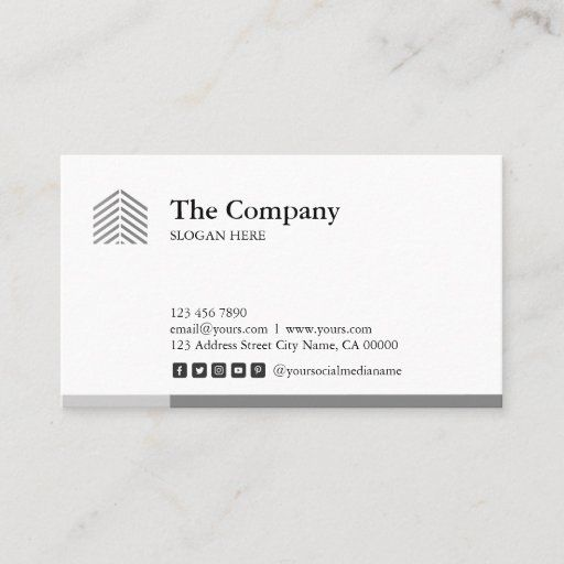 Construction Architect Social Grey Business Card Zazzle Com In 2021 Freelance Business Card Media Business Cards Business Cards Simple