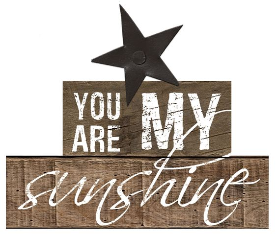 'You are My Sunshine' Stacked Letter Blocks with Star