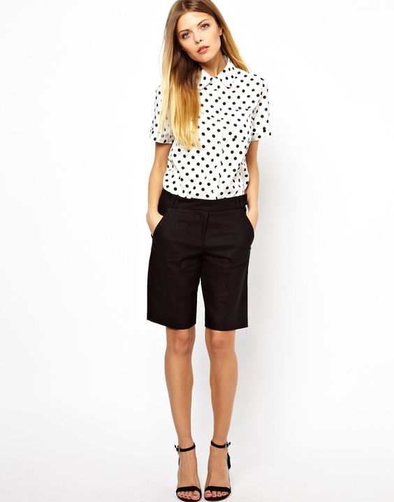 love this outfit, especially the polka dot shirt
