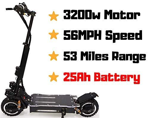 Maxx Outstorm 56mph Ultra High Speed Electric Scooter For Adults Foldable 3200w Dual Motor 60v 25ah Samsung Batte In 2020 Electric Scooter Samsung Battery Electricity