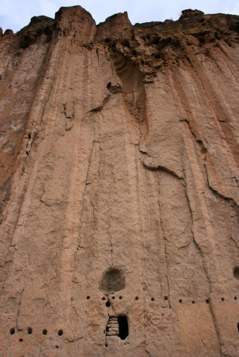 pueblo cave dwelling, New Mexico