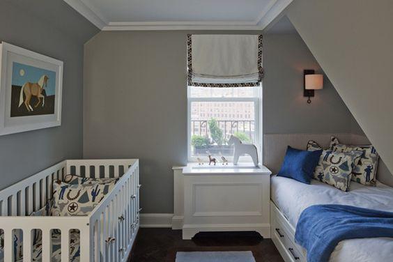 Nursery Room by Lauren Stern Design #horse #boy