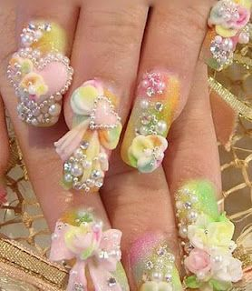 Just a tad over the top.WHolly Moley, you should read the blog that goes along with this. Someone needs a proof reader.: Art Design, Naildesign, Nail Design