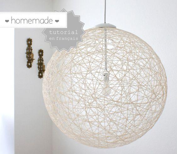 { DIY } De la laine pour une jolie lampe homemade <3 <3