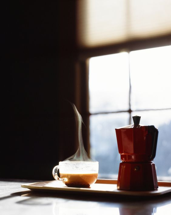 I use Bodum instead of Moka pot, but I always like the idea of peaceful Sunday morning with a cup of coffee.