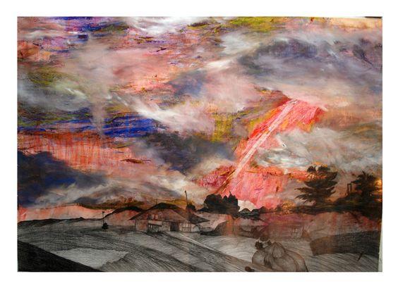 "Saatchi Online Artist: Tzfia Dgani; Mixed Media, 2008, Painting ""Untitled"""