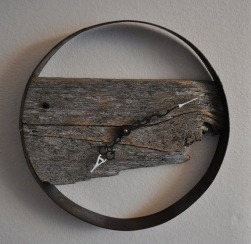 Rustic wood Clocks | Rustic barn wood wall clock - Craigs List Classifieds