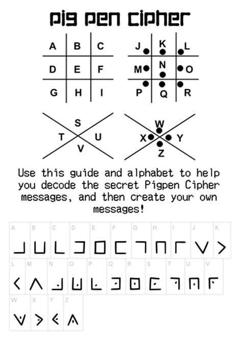 Image Result For Pigpen Cipher Worksheet For Students Ciphers And Codes Worksheets Journal Writing