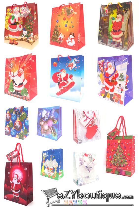 Sac cadeau de Noël et emballage cadeau pour Noel, ajoutez plein de ...