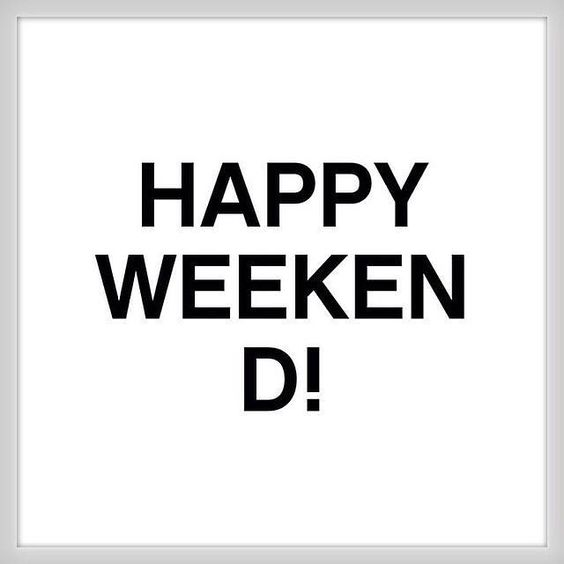We wish you a great & lovely weekend!