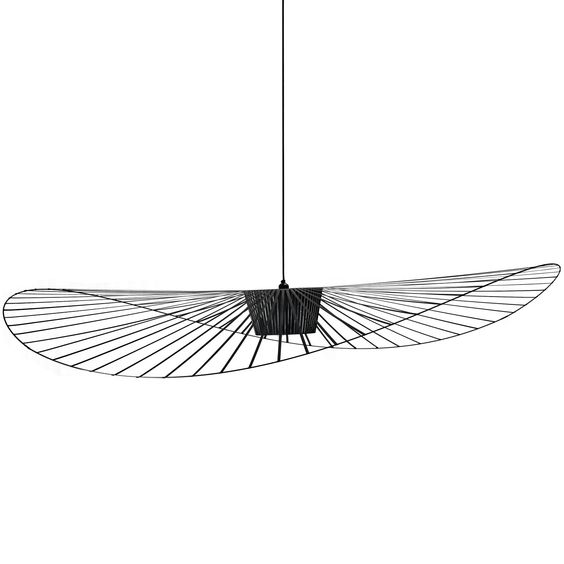 Vertigo suspension noir 200cm suspension petite for Suspension luminaire filaire