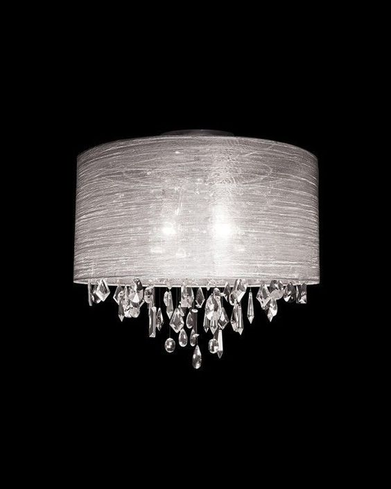 Details About Crystal Pendant Chandelier Ceiling Flush