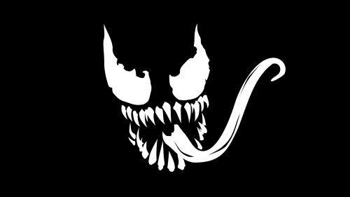 Venom Marvel Logo With Dark Background Marvel Wallpaper Marvel