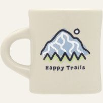 """#Life is Good Wish List    I love to drink from a """"heavy ceramic"""" mug.. you know you've got something in your hands.  Happy Trails?  Perfect!"""