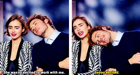 Sam claflin, Lily collins and Lilies on Pinterest