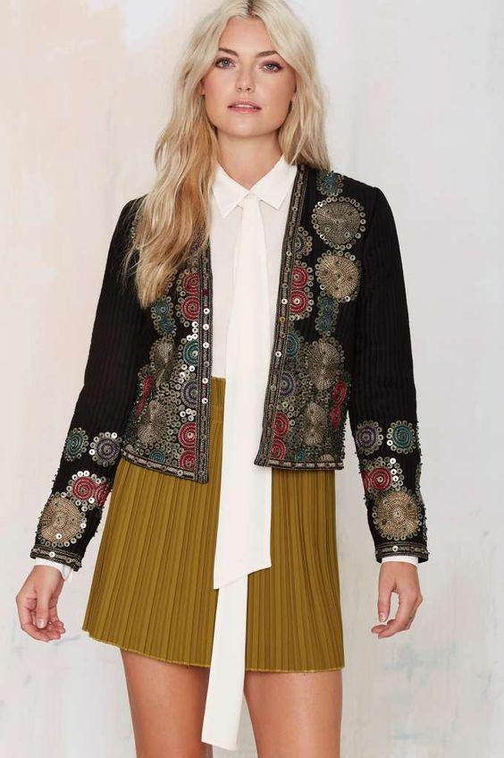 maison scotch whitley embroidered jacket sale 30 off jackets coats embellished. Black Bedroom Furniture Sets. Home Design Ideas