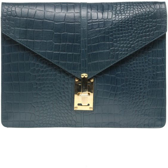 Asos Croc Embossed Leather Porfolio Clutch (2 000 UAH) ❤ liked on Polyvore featuring bags, handbags, clutches, purses, torbe, leather purse, crocodile leather handbags, blue clutches, croc embossed leather handbags и oversized clutches