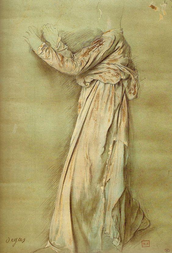 Edgar Degas, Standing Figure, Draped, from study for Semiramis.