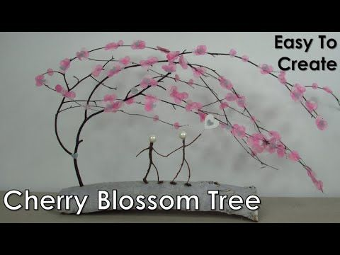 How To Make A Cherry Blossom Tree Stick People Tissue Paper Craft Sticks And Twigs Youtube This Beaut Cherry Blossom Tree Blossom Trees Cherry Blossom