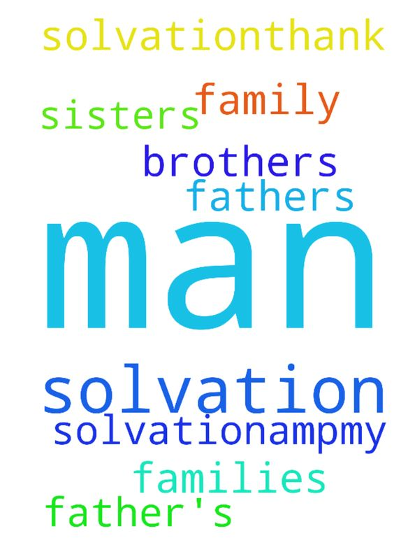 Man of God, please pray for my father's solvation.&my - Man of God, please pray for my fathers solvation.amp;my brothers family and my sisters families solvation.Thank you. Posted at: https://prayerrequest.com/t/t68 #pray #prayer #request #prayerrequest