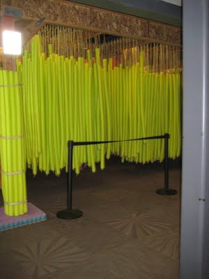 pool noodle crafts maze hang from ceiling parties and