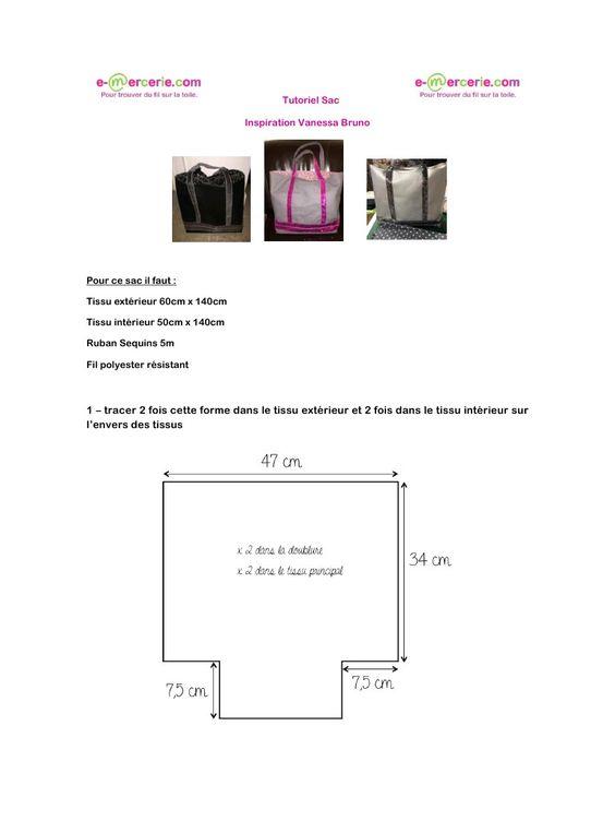 tutoriel sac inspiration vanessa bruno gratuit tuto. Black Bedroom Furniture Sets. Home Design Ideas
