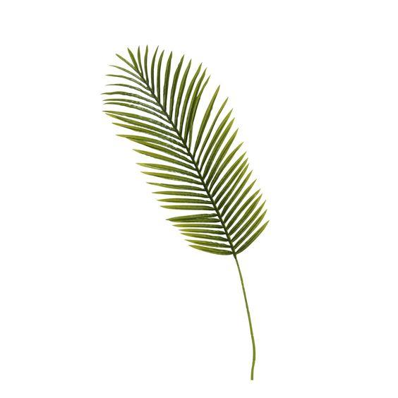 Feuille de palmier artificielle h130cm vert palme les for Alinea plantes artificielles