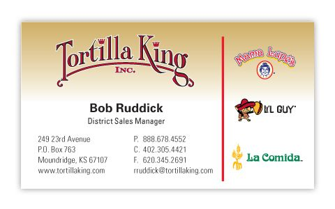 12 best css business card gallery images on pinterest business tortilla king business cards designer vicki neises client tortilla king inc colourmoves Images