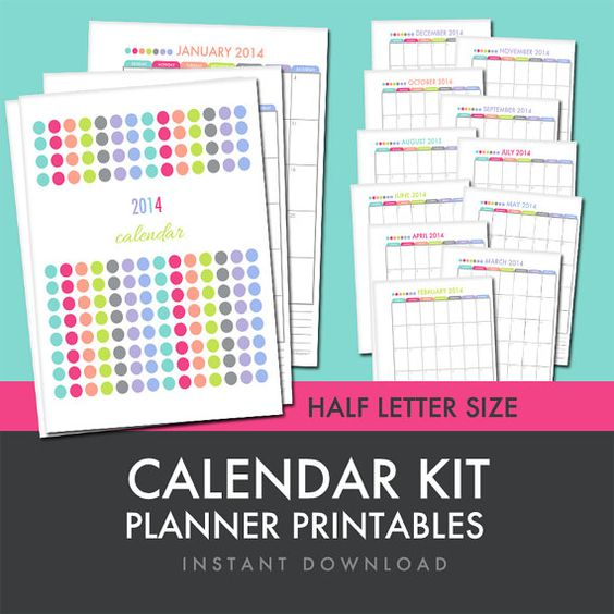 Academic Calendar Planner Refill : Planners letters and printables on pinterest