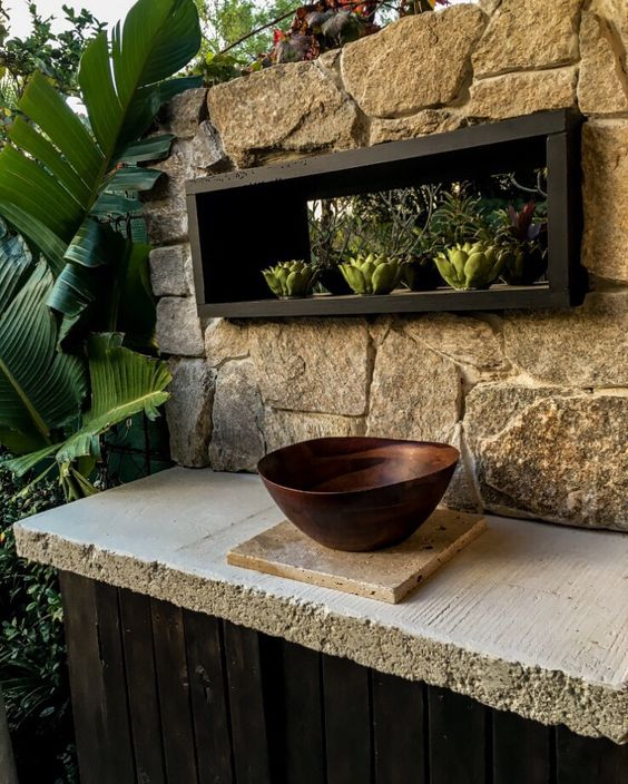 Things Of Stone And Wood... My Mini Outdoor Kitchen