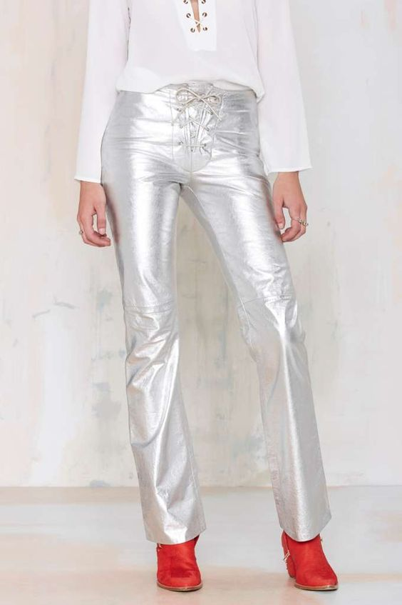 Vintage Silver Screen Leather Pant | Shop Vintage at Nasty Gal!