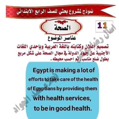 نموذج مشروع بحث عن الصحه للصف الرابع الابتدائي Health Health Services How To Make