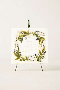 Anthropologie - 2014 Calendar & Easel