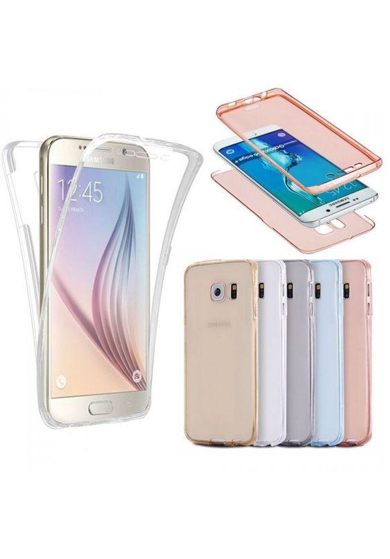 Funda plastica TPU Samsung galaxy S7 y S7 Edge a prueba de golpes trasera + frontal transparente