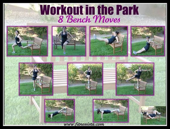 Workout in the Park: 8 Bench Moves