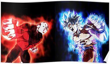 Goku Mastered Ultra Instinct Vs Jiren Full Power Poster By D34thdesing Goku Vs Jiren Dragon Ball Goku Vs