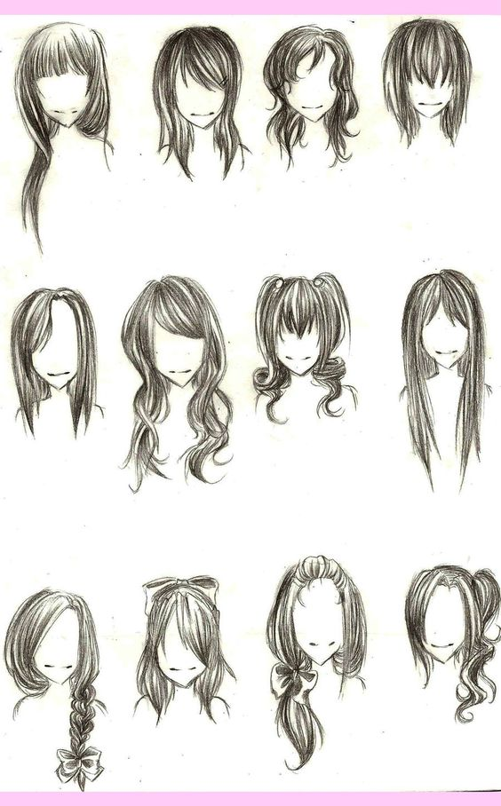 For Referents When Drawing Some Different Hair Styles Art - Different hair style drawing