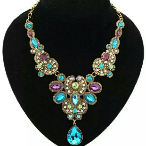 Multi Color Statement Necklace Exquisite Multi Color Statement Necklace Boutique Jewelry Necklaces