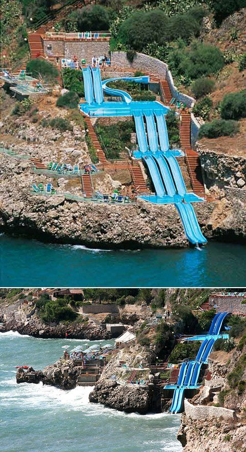 Multi-level water slide - Cool water slide with 5 floors.