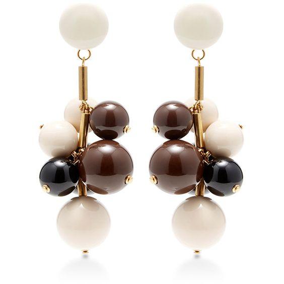 Marni Beaded Drop Earrings featuring polyvore, women's fashion, jewelry, earrings, marni earrings, cluster earrings, marni, beaded jewelry and long earrings