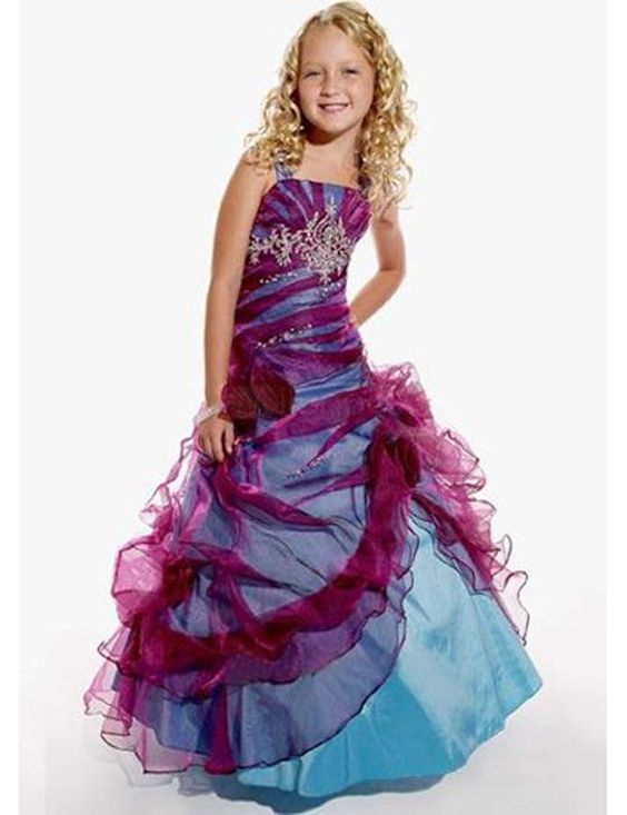 Girls Formal Dresses Clearance - ... Red Organza Square Collar ...