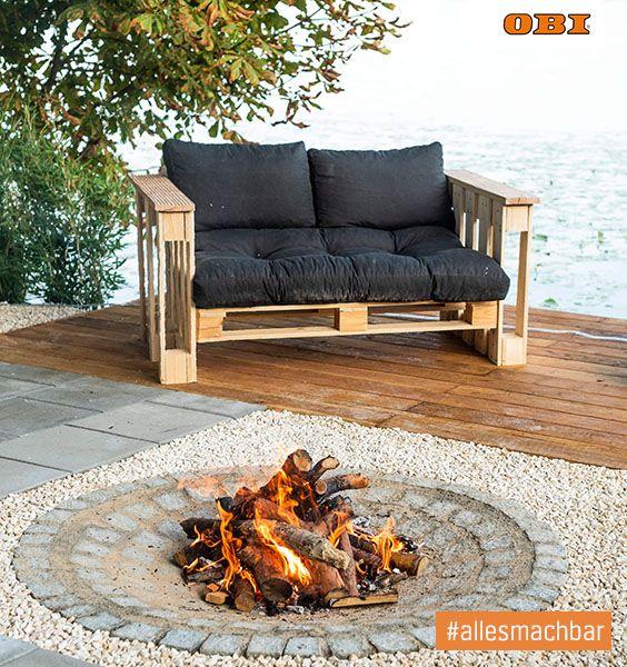 Grosse Terrasse Gemutlich Gestalten Ideen Tipps Obi Diy Terrasse Gartengestaltung Ideen Palettenmobel Garten